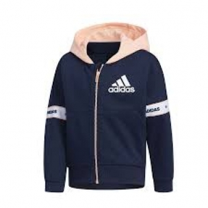 New Adidas LG KN Girls Hooded tracksuit 5-9 years